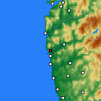 Nearby Forecast Locations - Виана-ду-Каштелу - карта