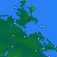 Nearby Forecast Locations - Рюген - карта