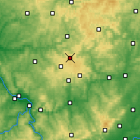 Nearby Forecast Locations - Siegerland - карта