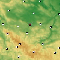 Nearby Forecast Locations - Эрфурт - карта