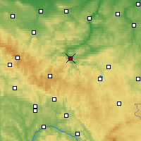 Nearby Forecast Locations - Зальфельд - карта