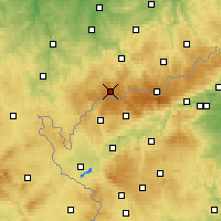 Nearby Forecast Locations - Erzgebirge/W - карта