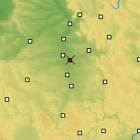 Nearby Forecast Locations - Нюрнберг - карта