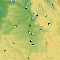 Nearby Forecast Locations - Эрланген - карта