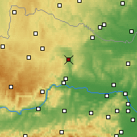 Nearby Forecast Locations - Гарс-ам-Камп - карта