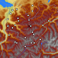 Nearby Forecast Locations - Alpe-Rauz - карта
