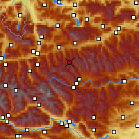 Nearby Forecast Locations - Obertauern - карта