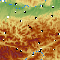 Nearby Forecast Locations - Лунц-ам-Зе - карта