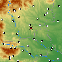 Nearby Forecast Locations - Бад-Глайхенберг - карта