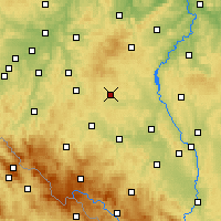 Nearby Forecast Locations - Kocelovice - карта