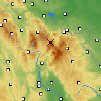 Nearby Forecast Locations - Šerák - карта