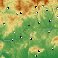 Nearby Forecast Locations - Лученец - карта