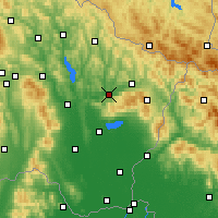 Nearby Forecast Locations - Kamenica nad Cirochou - карта