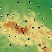 Nearby Forecast Locations - Еленя-Гура - карта