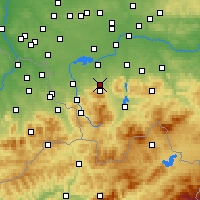 Nearby Forecast Locations - Бельско-Бяла - карта