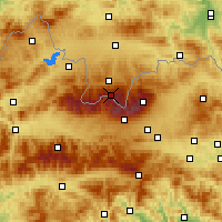 Nearby Forecast Locations - Каспровы-Верх - карта