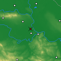 Nearby Forecast Locations - Batajnica - карта