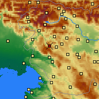 Nearby Forecast Locations - Vojsko - карта