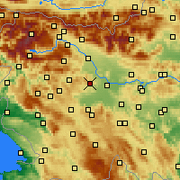 Nearby Forecast Locations - Медводе - карта