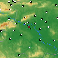 Nearby Forecast Locations - Загреб - карта