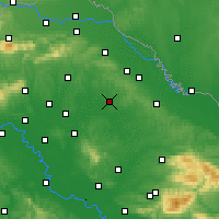 Nearby Forecast Locations - Бьеловар - карта