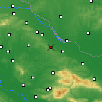 Nearby Forecast Locations - Билогора - карта