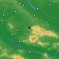 Nearby Forecast Locations - Дарувар - карта