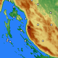 Nearby Forecast Locations - Zavizan - карта
