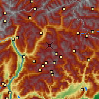 Nearby Forecast Locations - Seiser Alm - карта