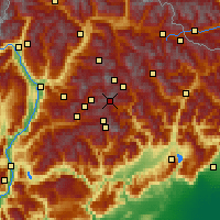 Nearby Forecast Locations - Tre Valli - карта
