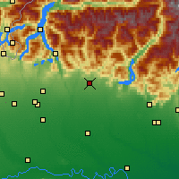 Nearby Forecast Locations - Бергамо - карта