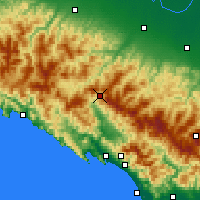 Nearby Forecast Locations - Passo D.Cisa - карта