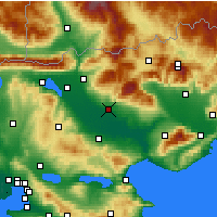 Nearby Forecast Locations - Сере - карта