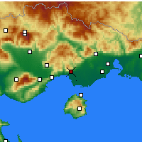 Nearby Forecast Locations - Кавала - карта