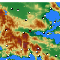 Nearby Forecast Locations - Ламия - карта