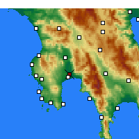 Nearby Forecast Locations - Каламата - карта