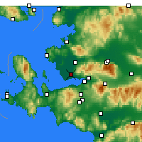 Nearby Forecast Locations - Izmir / Cigli - карта