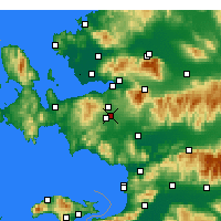 Nearby Forecast Locations - Gaziemir - карта