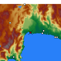 Nearby Forecast Locations - Анталья - карта