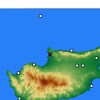 Nearby Forecast Locations - Akdeniz - карта