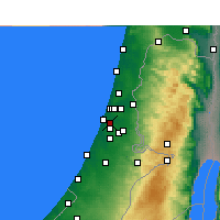 Nearby Forecast Locations - Beit Dagan - карта