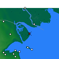 Nearby Forecast Locations - Bubian Island - карта