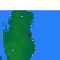 Nearby Forecast Locations - Qatar University - карта