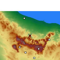 Nearby Forecast Locations - Rustaq - карта