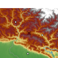 Nearby Forecast Locations - Dadeldhura - карта