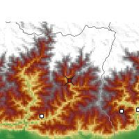 Nearby Forecast Locations - Taplejung - карта