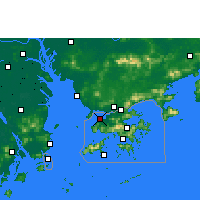 Nearby Forecast Locations - Lau Fau Shan - карта