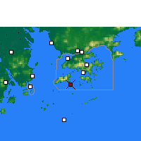 Nearby Forecast Locations - Cheung Chau - карта