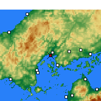 Nearby Forecast Locations - Хиросима - карта