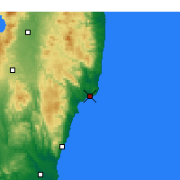 Nearby Forecast Locations - Onahama - карта